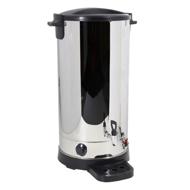 Stainless Steel Tea Urn 35 Litre Electric Catering Hot Water Boiler ...