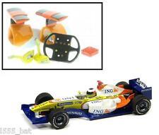 Nuevo SCALEXTRIC W9714 Renault F1 ala espejos, Cámara, volante & Caja De Aire