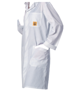 Elimstat ® Anti Statique ESD Lab Coats-Blanc ou Bleu-Haute Qualité-UK Stock