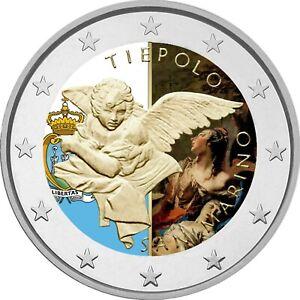 2-Euro-Gedenkmuenze-San-Marino-2020-coloriert-mit-Farbe-Farbmuenze-Tiepolo-2