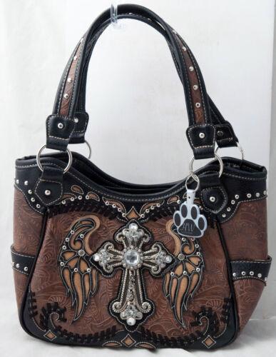 portefeuille sac main sac d'ange dissimulé Strass main croix ailes occidental à porter à 2DHeYWE9I