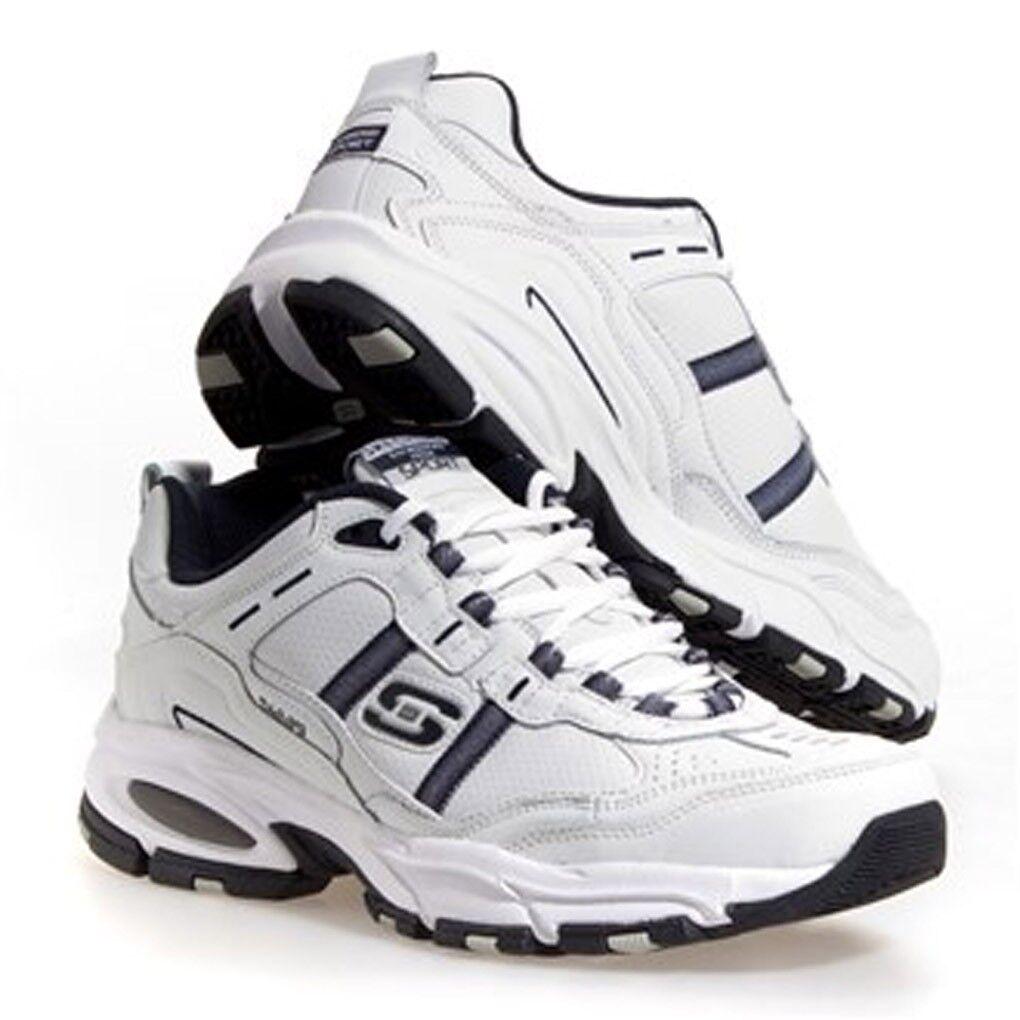 Skechers de zapatos cuero de los hombres zapatos de deportivos en blanco 8d9cba