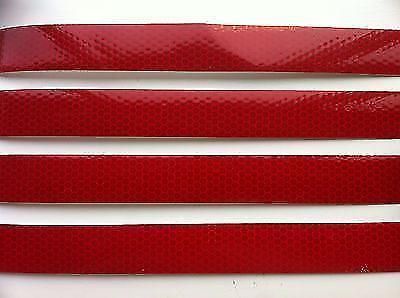 Bande Reflechissante Haute Visibilite Rouge 25MM x 300MM