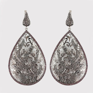 1-15Ct-Rhodolite-Dangle-Drop-Earrings-Solid-925-sterling-Silver-Diamond-Pave