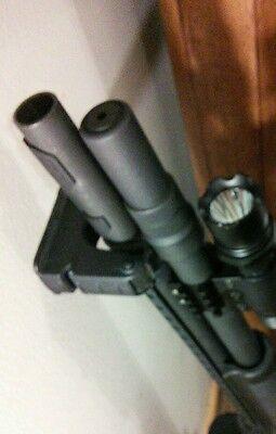 Shotgun Vertical Barrel Grabber Holder Rack Mossberg 500 - Fits over heat shield