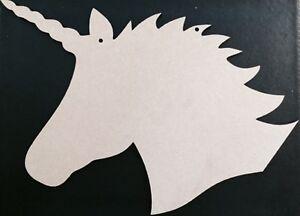 laser cut unicorn head shapes Embellishments mdf Craft