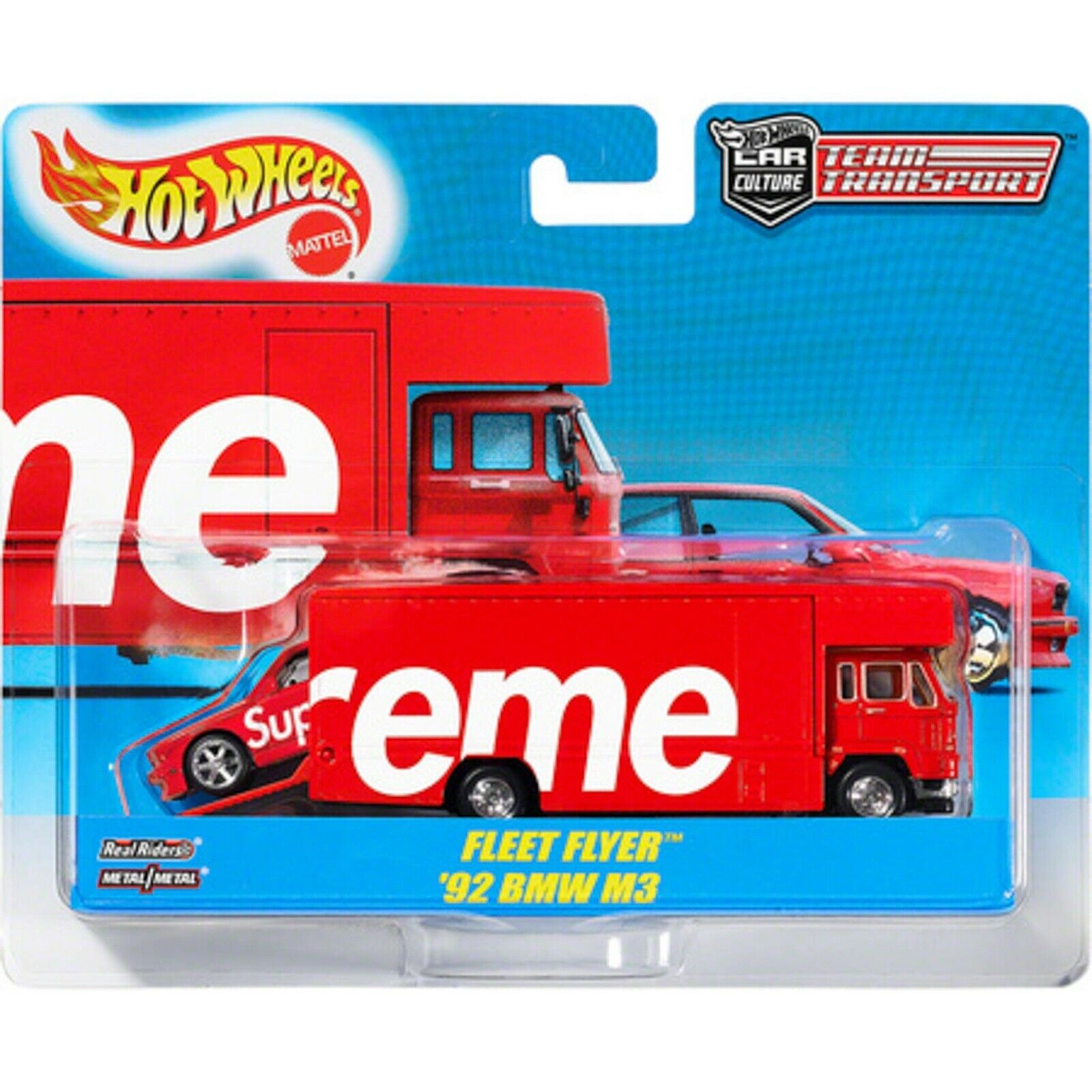 Supreme X HOT WHEELS flotte flyer & 1992 BMW M3