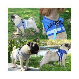 Mesh-Reflective-Dog-Harness-Vest-Adjustable-Pet-Puppy-Walking-Train-Lead-Leash