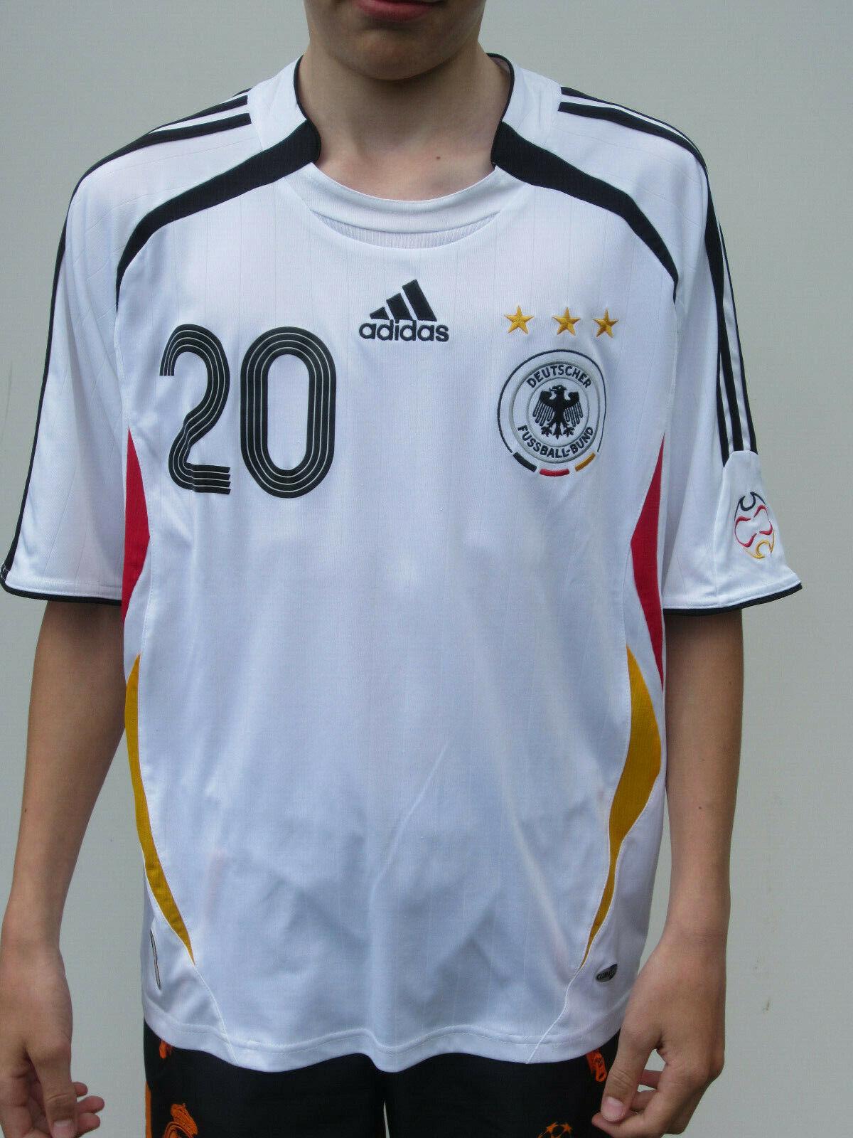 Adidas DFB Alemania Podolski 20 [Tamaño 164] WM 2006 Niños Camiseta Local (2)