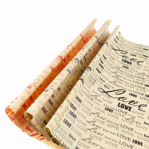 Vintage English Newspaper Gift Flower Wrap Double Sided Wrap For Festival GiftS*