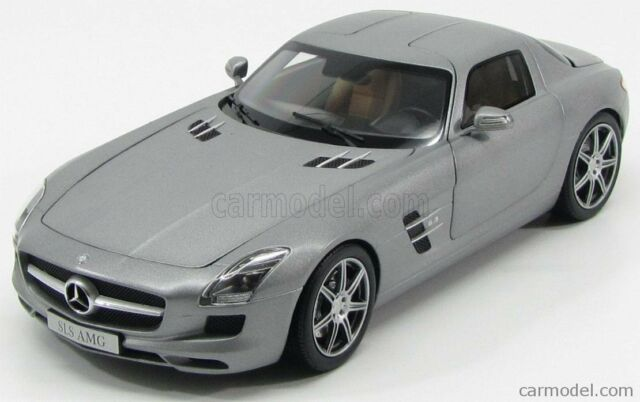 Mercedes Benz Sls Amg Coupe Gray 1 18 Norev Diecast Model