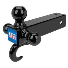 Towsmart Up To 14000 Ball Diameters Adjustable Trailer Tri Ball Mount With Hook