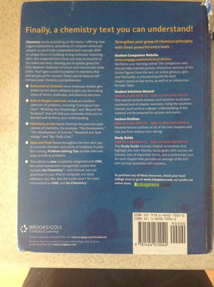 Chemistry : The Core by M  Larry Peck, Kenneth W  Whitten, Raymond E
