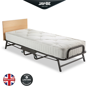 JAY-BE Crown Premier Single Folding Bed with Deep Sprung Mattress - Heavy Duty