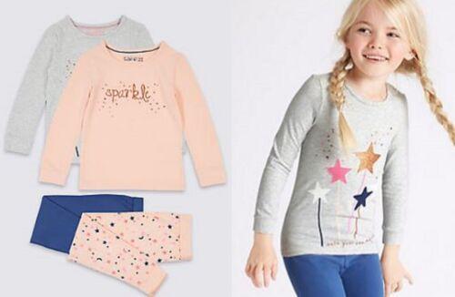 Girls pyjama M /& S baby 12 18 months 2 3 4 5 6 7 8 years sparkle stars