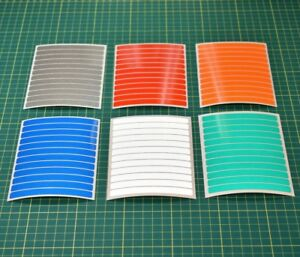10mm Fluorescent Strip Stickers for Safety Hi-vis High Visibility