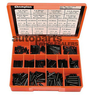 CHAMPION METRIC ROLL PINS SMALL SIZES ASSORTMENT KIT 360 Pieces