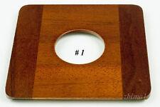 "1 Lens Board 4.5""sq. RC for Deardorff, Solid Mahogany, 42mm hole for Copal #1"