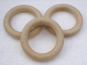 Holzringe Außen-Ø 70 mm x Material-Ø 12 mm Massivholz Buche natur Rohholz
