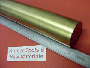 "1-1/4"" 1.250"" Brass C360 Round Bar x 6"" Length H02 Solid Rod New Lathe Bar Stock"