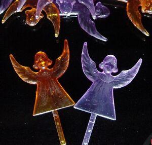 1 Purple Angel Topper Ceramic Christmas Tree Star Twist Light Flame