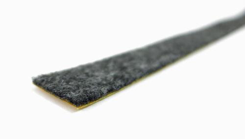 10m Filzstreifen 20mm breit Filzband anthrazit 2mm dick stark selbstklebend