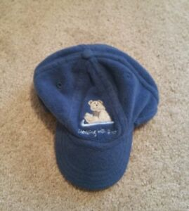 EUC Koala Kids Fleece Baseball Hat Teddy Bear on sled Winter cap 12 ... 8e0b0e88579