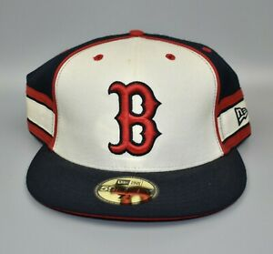 Boston-Red-Sox-New-Era-59FIFTY-MLB-Stripes-Men-039-s-Fitted-Cap-Hat-Size-7-3-4