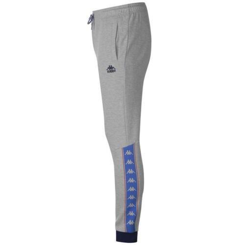 Men/'s Kappa Pants Trousers Slim Fit Bottoms Joggers Retro Sports Football Grey