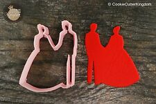 `Wedding Bride and Groom Cookie Cutter, 3D Printed