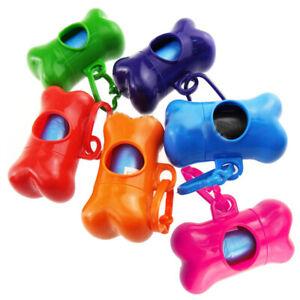 Pet-Waste-Bone-Bag-Holder-Plastic-Dog-Poo-Bag-Dispenser-Lead-Walking-Carryi-gfgf