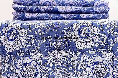 Indian 100/% Grey Dabu Cotton Voile Fabric Sewing Hand Block Print Craft By yard