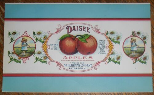 Daisee Apples Can Label Paterson New Jersey The Herrman Company