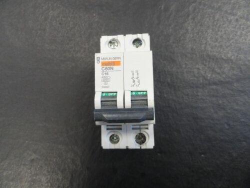 MERLIN GERIN 2-POLE CIRCUIT BREAKER MULTI9 C60N C 16 400V 24337 MARINE BOAT