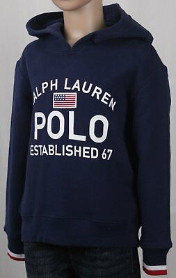 Polo Ralph Lauren Pull Over Bleu Marine Drapeau Sweat Capuche Polaire | eBay
