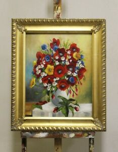 Painting-Flowers-Handmade-Oil-Painting-Picture-Oil-Frame-Pictures-G95964