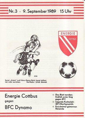 OL 86//87  BSG Stahl Riesa Energie Cottbus