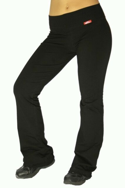 black yoga pants cotton spandex NWT womens workout fitness aerobic gym tights 44