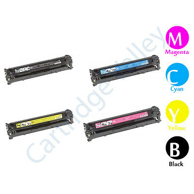 Compatible Set of 4 BCYM HP CE320A CE321A CE322A CE323A 128A for CM1415//CP1525