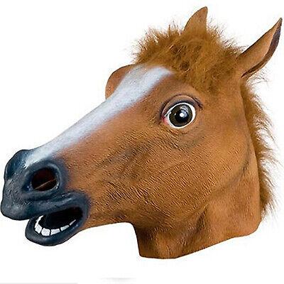 PUBG Horse Mask Halloween Party Full Head Latex Rubber Mask Novelty Fancy Prop