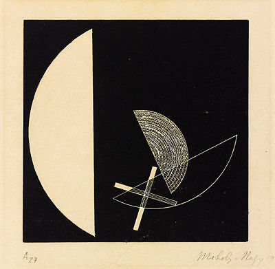 Laszlo Moholy Nagy Circle Segments Giclee Art Paper Print Poster Reproduction
