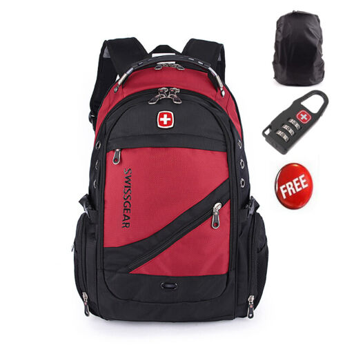 2019 Fashion SwissGear Men Travel Bags Macbook laptop hike red color backpack