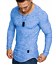 Men-039-s-Casual-New-Long-Sleeve-Shirt-Round-Neck-Basic-Tee-Autumn-Winter-Slim-Top thumbnail 13