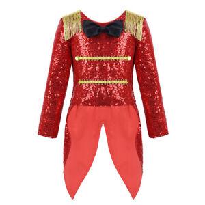 US Toddler Girl Ringmaster Costume Children Romper Circus Princess Fancy Dress