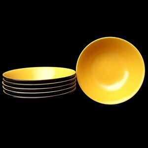 Mikasa-Terra-Stone-Curry-Yellow-Cereal-Bowls-6-5-034-As-Is-Vintage-More-Pcs-Avail