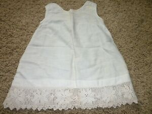 ANTIQUE-1800-039-S-ERA-BABY-CHILD-DRESS-UNDER-SLIP
