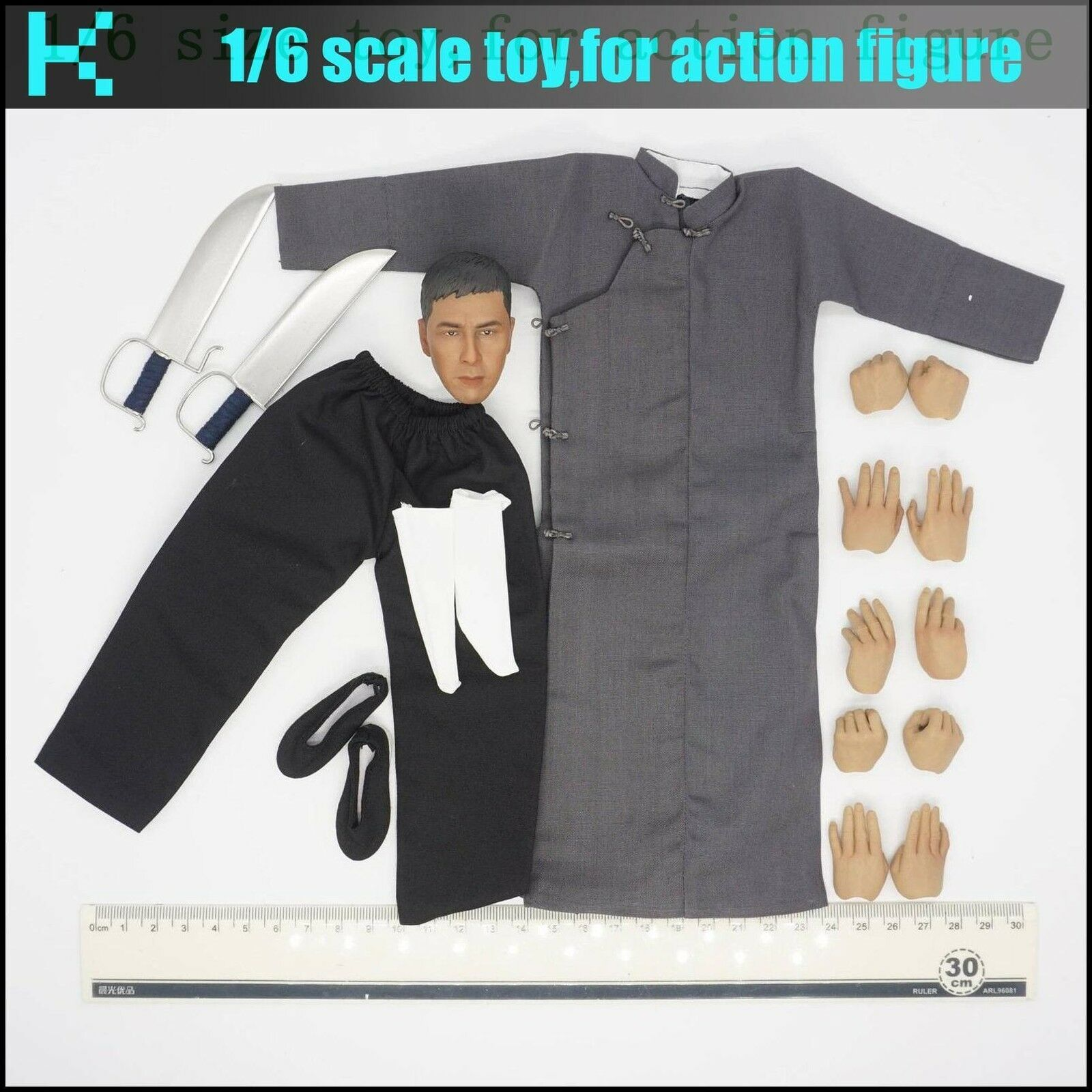 L44-13 1 6 scale Ip Man Kung fu clothing & heat set