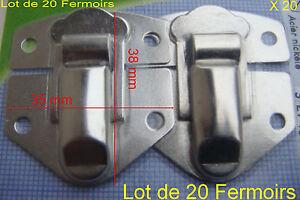 Fermoirs fermeture valise Nickelé Acier boite grenouille coffret 20 pRq1nAwFxw