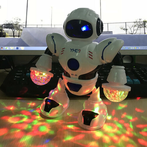 So Cute Toys for Kids Boys Walking Musical Robot Light Lamp Cool Baby Xmas Gift