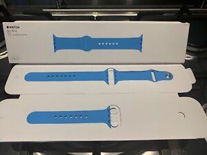 GENUINE-APPLE-WATCH-SPORT-BAND-38mm-40mm-2015-Discontinued-BLUE-Rare-1st-Gen